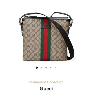 Sold!Travel Larger Message Bag Gucci Classic Black